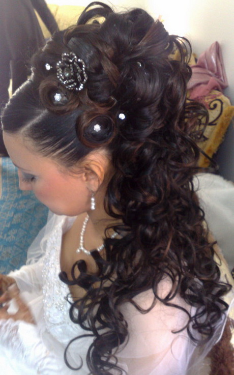 Chignon mariage marocain