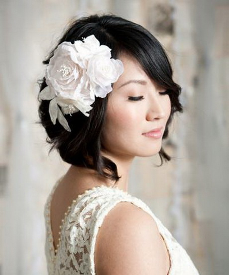 Coiffure mariage cheveux carre - Coiffure carre mariage ...