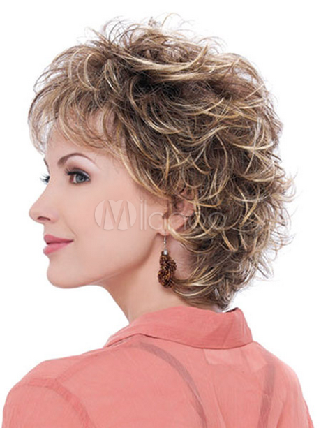 Coupe courte frisee - Coupe femme degradee ...