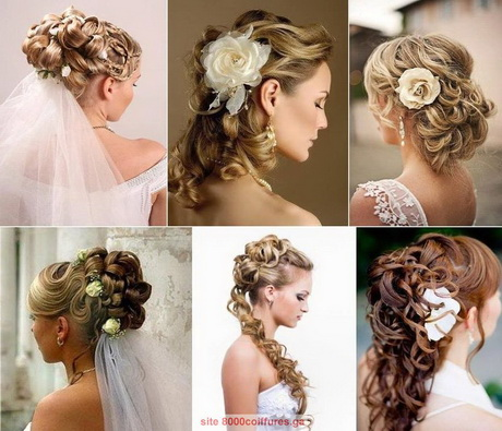 Coiffure mariage cheveux mi long 2016 - Coiffure mariage cheveux mi long laches ...