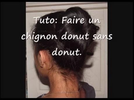Faire chignon donut
