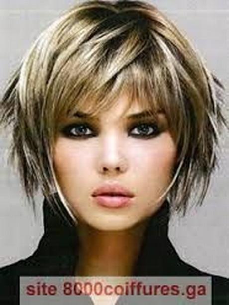 Modele de coiffure visage rond - Coupe courte pour femme ronde ...