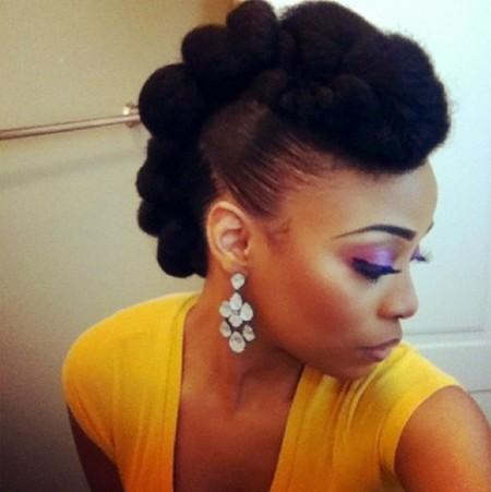 Chignon Afro Coiffure