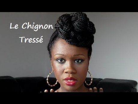 chignon tresses africaine. Black Bedroom Furniture Sets. Home Design Ideas