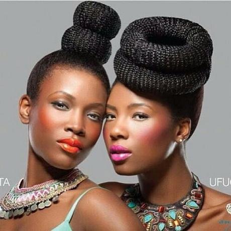 Modele de coiffure avec des tresses africaine