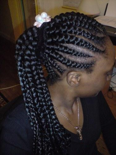 Nattes tresses africaines - Nattes collees modeles ...