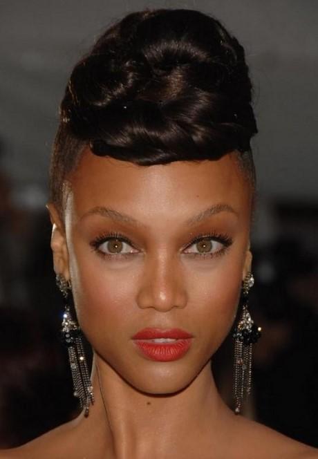 Modele chignon africain