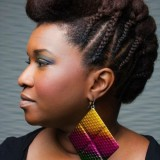 Coiffure afro cheveux courts