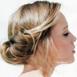 Coiffure chignon simple