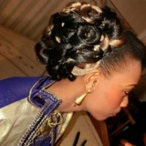 Coiffure mariage africain