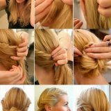 Coiffure simple cheveux longs