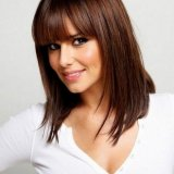 Coupe de cheveux brune long