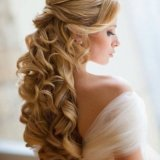 Cheveux long coiffure mariage