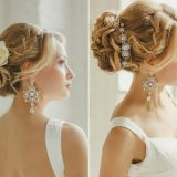Coiffures mariage cheveux longs chignon