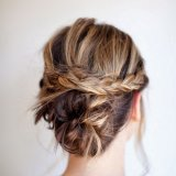 Chignon cheveux long