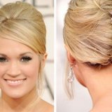 Photo chignon banane