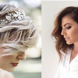 Cheveux court mariage