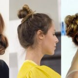 Chignon cheveux mis long