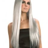 Cheveux gris long