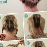 Chignon bas cheveux long