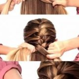 Coiffure simple tresse