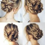Chignon boheme cheveux mi long