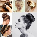 Chignon cheveux long epais