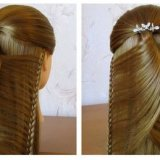 Coiffure simple a faire cheveux long