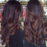 Coloration cheveux long