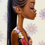 Coupe avec meche africaine