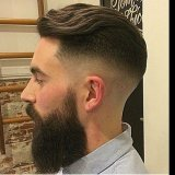 Coupe dégradé long homme