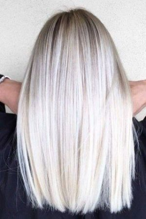Blond polaire cheveux long