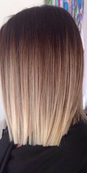 Cheveux mi long meche blonde