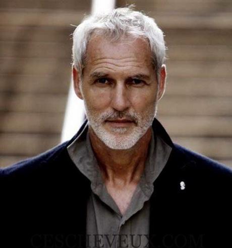 Coupe homme cheveux gris