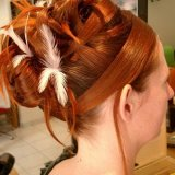 Coiffure mariage plume