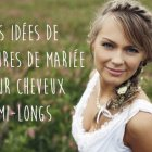 Coiffure mariage cheveux long raide