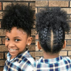 Coiffure afro simple