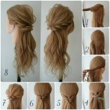 Coiffure simple a faire cheveux mi long
