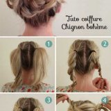 Tuto coiffure cheveux mi long simple
