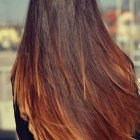 Tie and dye cheveux long